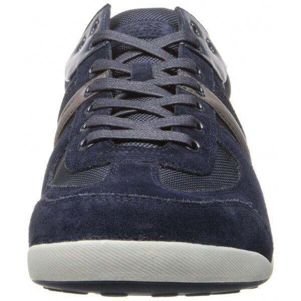 Scarpe casual da uomo  HUGO BOSS STIVEN Sneakers/navy/dark blue/US13/EU46/UK12/suede/leather