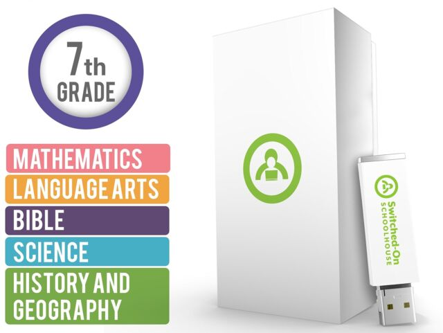 SOS HISTORY /& GEOGRAPHY 7th Grade 7 Box Set USB Switched on Schoolhouse AOP MF