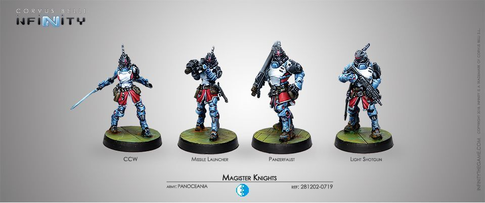 Infinity Panoceania Magister Knights Corvus Belli INF281202 Ccw Bazooka