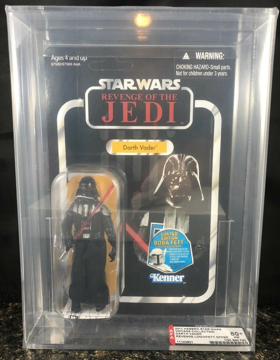 Guerra De Las Galaxias Darth Vader autoridad Figura de Acción 80 la venganza de los caballeros Jedi ENLOMADOR Vintage Collection