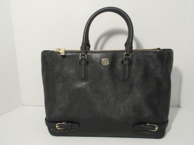 8babc6329bb3 Tory Burch Robinson Multi Tote Handbag 31159720 Black Saffiano Leather NWT