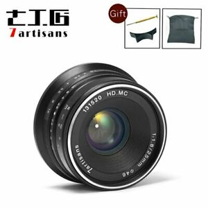 7artisans 25mm f/1.8 Manual focus Lens for Micro Four Third M 4/3 mount OM-D GH5