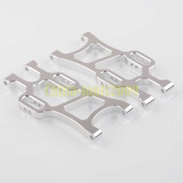 SILVER Aluminum Rear Lower Suspension Arm 108021 HSP 1/10 RC 08006 Upgrade Part