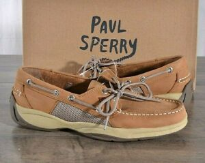 Sperry-Top-Sider-Intrepid-Tan-Boat-Shoes-Men-039-s-9-MED-Classic-Leather-Shoe-NEW