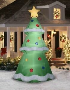 Christmas Tree Inflatables.Christmas Tree Airblown Inflatables 10 Ft Yard Lawn