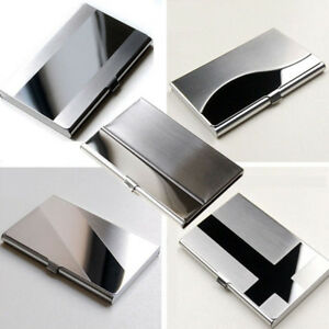 Business-ID-Name-Credit-Card-Wallet-Holder-Stainless-Steel-Silver-Aluminium-Case