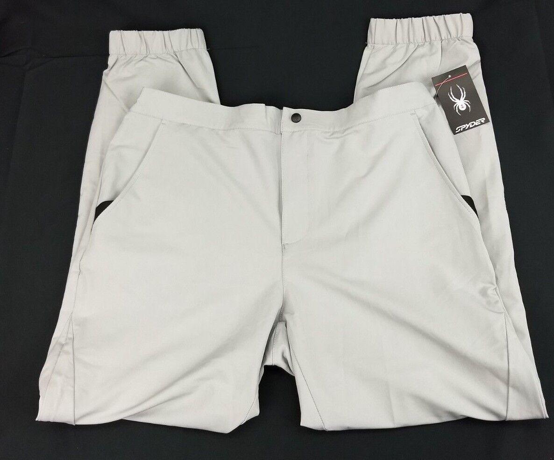 Spyder Mens Large Jogger Pants Alloy Grey Polar Lightweight 71E65050-07   AS
