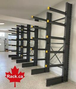 Structural Cantilever Racking In Stock - Made In Canada - Quick Ship Across Canada - Industrial Storage Rack Manitoba Preview