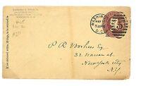 L179 1888 Washington DC to New York/USA/Postal stationery