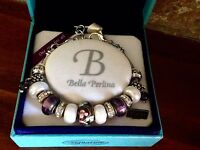 Bella Perlina Charm Bead Bracelet - Deluxe Purple Grape -