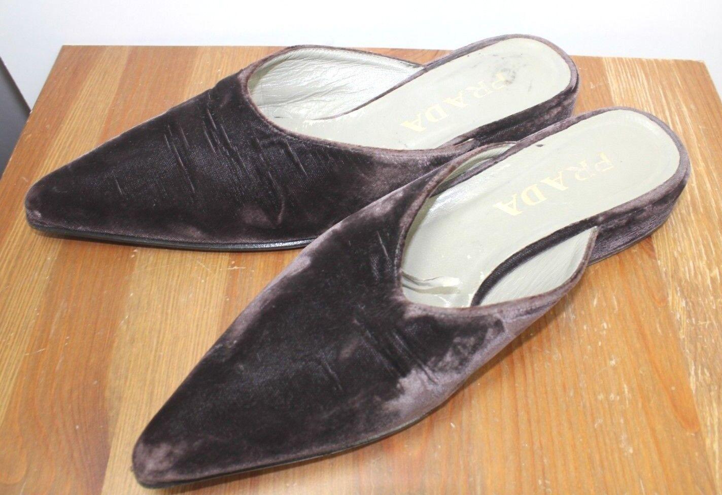 damen damen damen Prada Heels Suede Leather lila Pointed EU 37.5 UK 4.5 Court schuhe 220635
