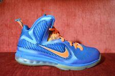 reputable site 22407 65242 CLEAN Nike Air Max LEBRON IX 9 CHINA NEPTUNE BLUE ORANGE Size 10 469764-800