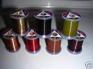 "UNI 8//0 Waxed Thread 200 Yd Spools /""BIG 23 Color Set/"" Fly Tying Lot"