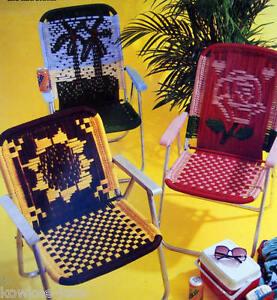 Macrame Lawn Chair Patterns Cow Sunflower Spider Bee