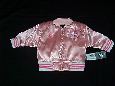 Pink Adidas Newborn Baby Girls Florida State Varsity Satin Jacket