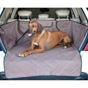 KH-Mfg-Washable-Quilted-SUV-Rear-Cargo-Liner-Cover-Dog-Pet-Bed-Tan-KH7866