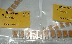 10-x-100uf-10v-TANTALIO-Condensador-Kemet-t495d107k010ate100-2624759