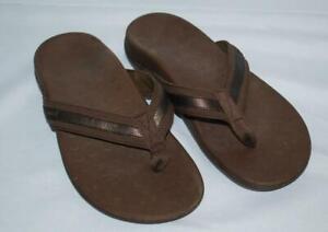 Vionic-Flip-Flops-Tide-Brown-Women-039-s-6-Orthoheel-Sandals