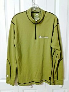 Mans-Rip-Curl-Pullover-Shirt-Long-Sleeved-Sportwool-Casual-Shirt-Large-L