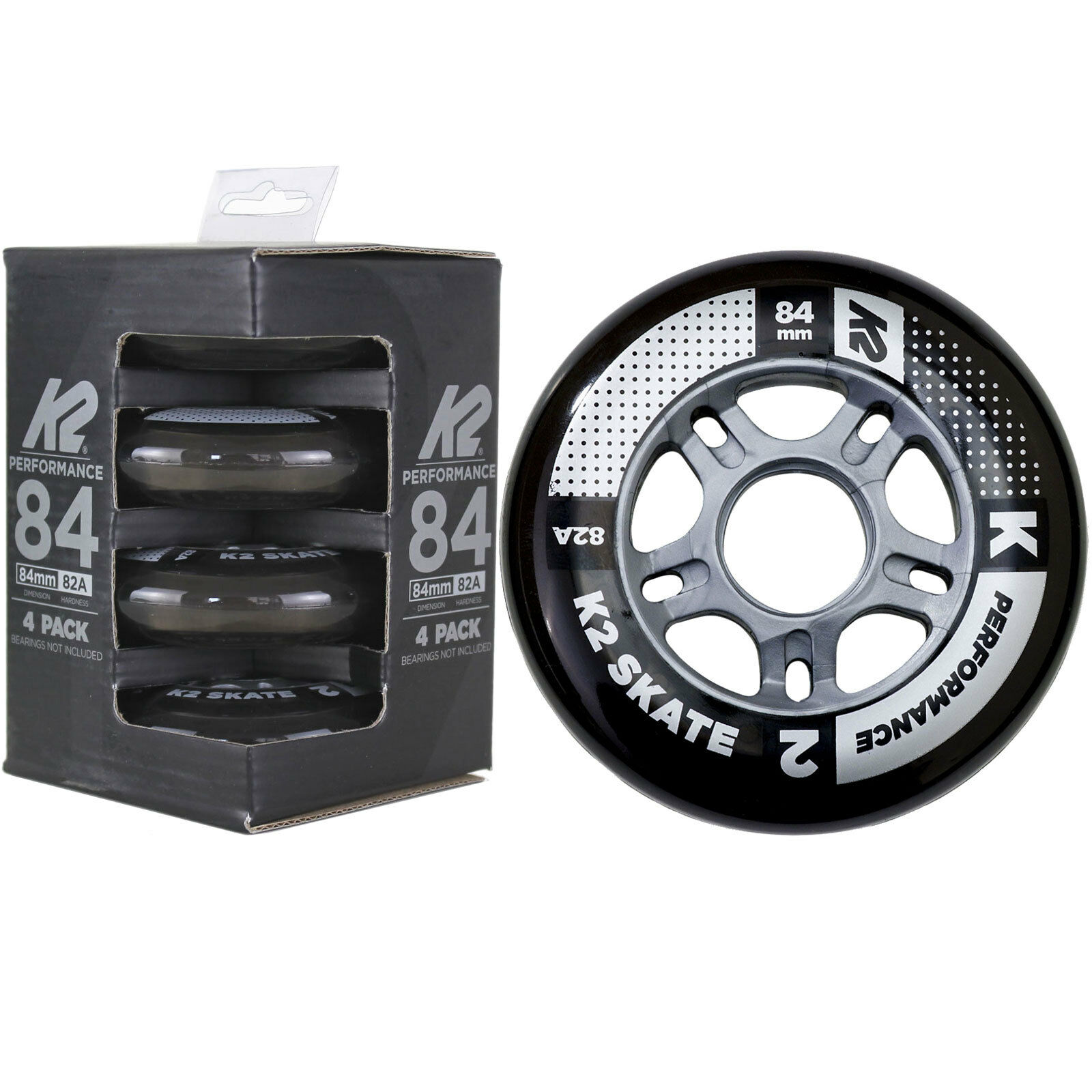 K2/Rollers 84/mm Performance Wheel Pack de 4/Rollers Rouleaux de Rechange 4/30b3003.1.1