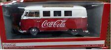 Coca-Cola 1962 VW Volkswagen Cargo Van Diecast 1:18 Motor City 10 inch Red