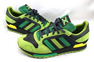 ADIDAS-APE-779001-RARE-Jamaica-Flag-Green-Lime-Suede-Leather-Sneakers-Men-039-s-11-5