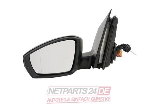 Schwarz VW Polo 09 6R 06//2009- Neuware Außenspiegel Spiegel links Fahrerseite
