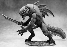 1 x CHAMPION TIIK - BONES REAPER figurine miniature d&d jdr rpg fishman warrior