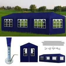 10' x 30' Blue Canopy Party Tent Gazebo Cater Events 8 Sidewalls Outdoor