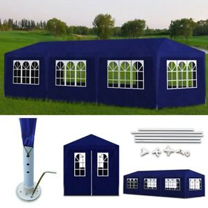 10-039-x-30-039-Blue-Canopy-Party-Tent-Gazebo-Cater-Events-8-Sidewalls-Outdoor-US