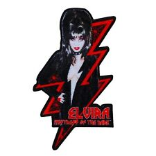 "Sexy Spark ""Elvira: Mistress of the Dark"" Iron-On Patch DIY Fan Apparel Applique"
