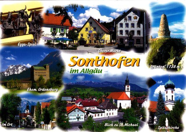 Sonthofen im Allgäu , Ansichtskarte ; gelaufen