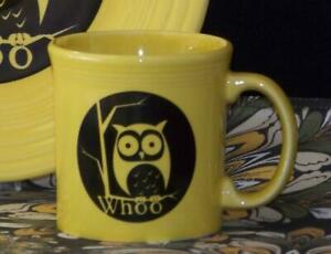 Fiesta-SUNFLOWER-Whoo-Owl-Java-Mug-1st-Quality