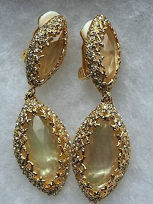 Alexis Bittar Mother of Pearl Doublet Clip-on Drop earrings NWOT
