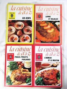 Lot De 4 Livres La Cuisine De A à Z - Le Livre De Poche - 1975 - Tbe4*