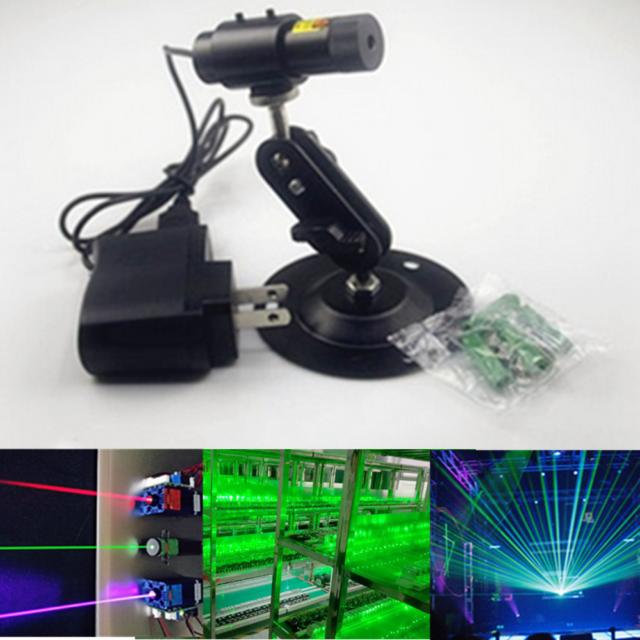 532nm 50mW Green Laser LINE Module Locator for Cutting Machine + Adapter + Mount