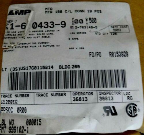 """10x Amp 640433-9 9 vías IDC Cable Zócalo receptical 3.96mm 0.156/"""" MTA-156 C//L"""