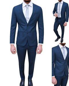 Abiti Da Cerimonia Uomo Blu.Abito Abiti Da Uomo Elegante Cerimonia Sartoriale Vestito Slim Fit