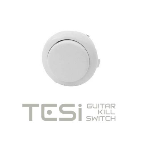 Tesi DITO Snap-in 24MM Guitar Arcade Push Button Kill Switch Solid White