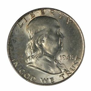 1948 Franklin Half Dollar PCGS MS65FBL