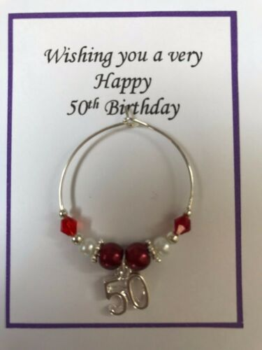 Wine Class Charm 18th 21st Coming of Age Red Birthday Present in Gift Bag