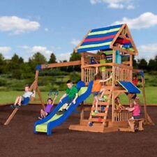 Backyard Discovery Yukon Iii Cedar Swing Set Delivery Ebay