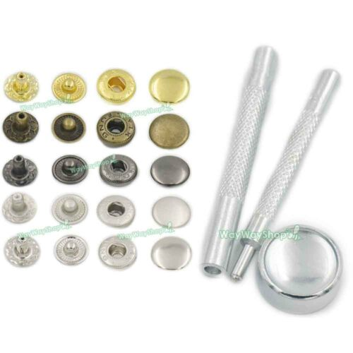 Metal Snap Fastener Leather Rapid Rivet Buttons Setting Tools Sewing 10 12 15mm