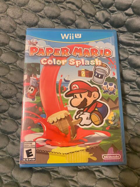 Paper Mario Color Splash Nintendo Wii U Brand New Sealed