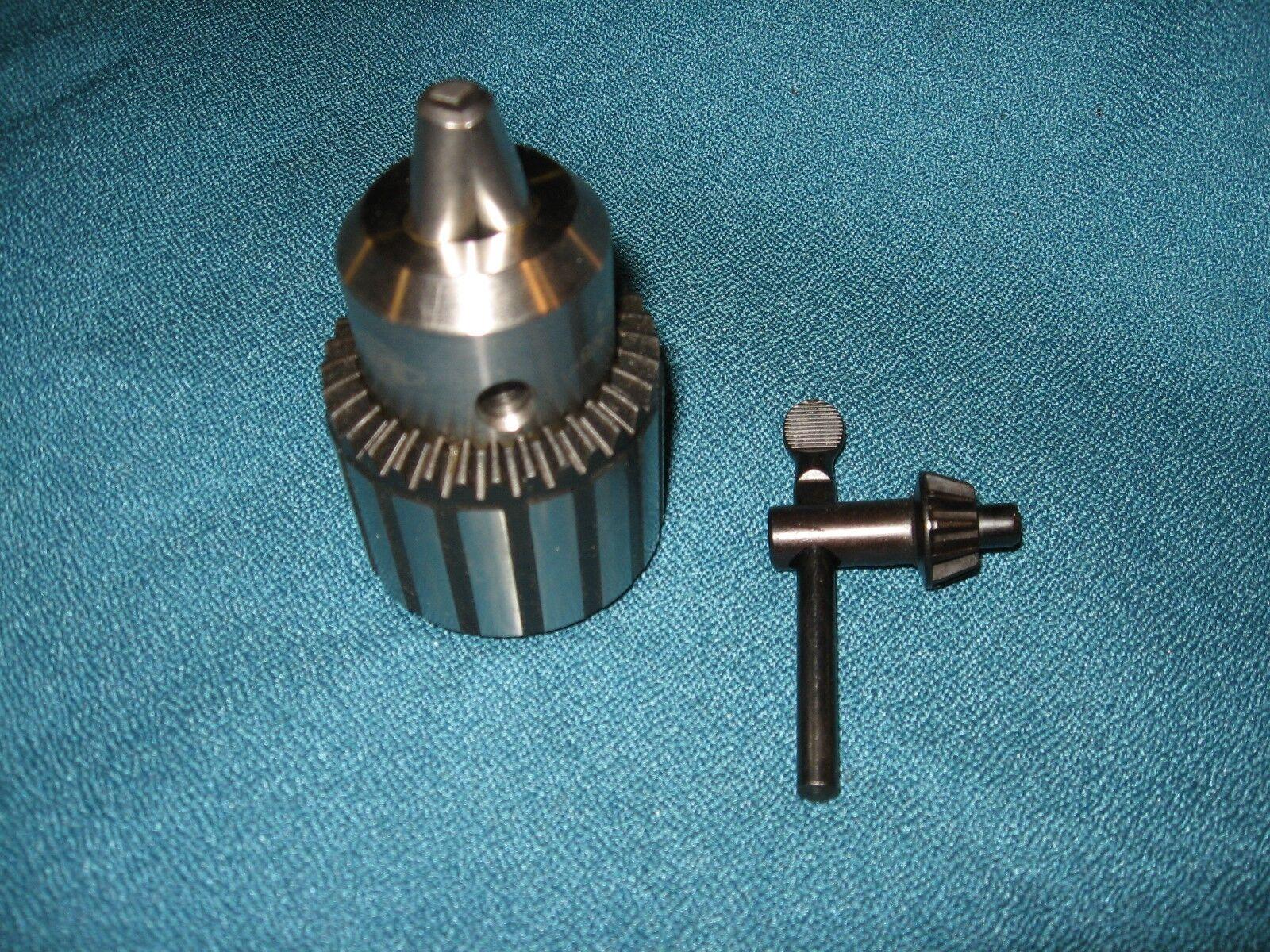 NEW 5 8 DRILL CHUCK AND KEY REPLACES DELTA 17-965 T2 DRILL PRESS CHUCK