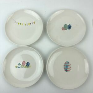 Rae-Dunn-Easter-Appetizer-Plate-Set-of-4-Artisan-Collection-by-Magenta-HG11