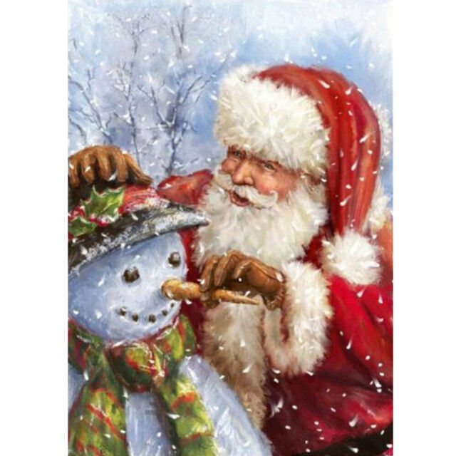 Christmas Gifts 5D Diamond Painting Kits Festival Decor Santa Claus Full Drill