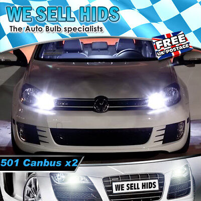 ERROR FREE CANBUS W5W T10 501 LED SIDE LIGHT BULB 8 SMD BMW VW AUDI S3 X5 E60