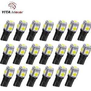 YITAMOTOR Super White T10 168 5SMD 5050 LED Interior Light Bulb W5W 2825 20PCS