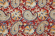 Indisch Baumwolle Laufen Locker Nähen Handwerk 2.7m Stoff Hand Blockdruck Ethno